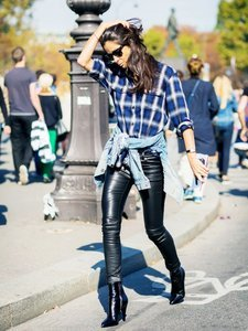 How Cool Girls Wear Leather Pants