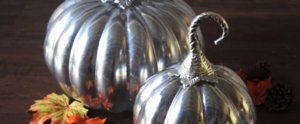 Give Pumpkins a Vintage Mercury Glass Feel With This Trick