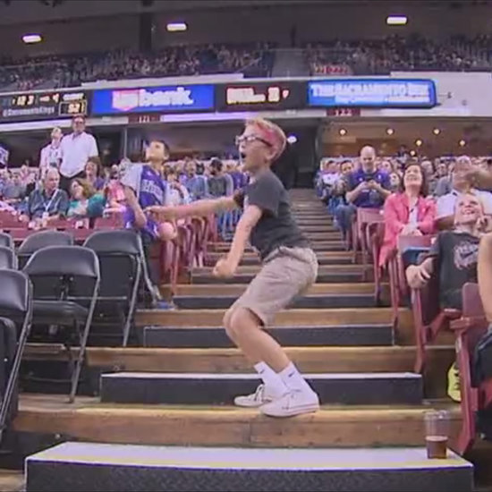 Funny Kid Dancing at Sacramento Kings Game