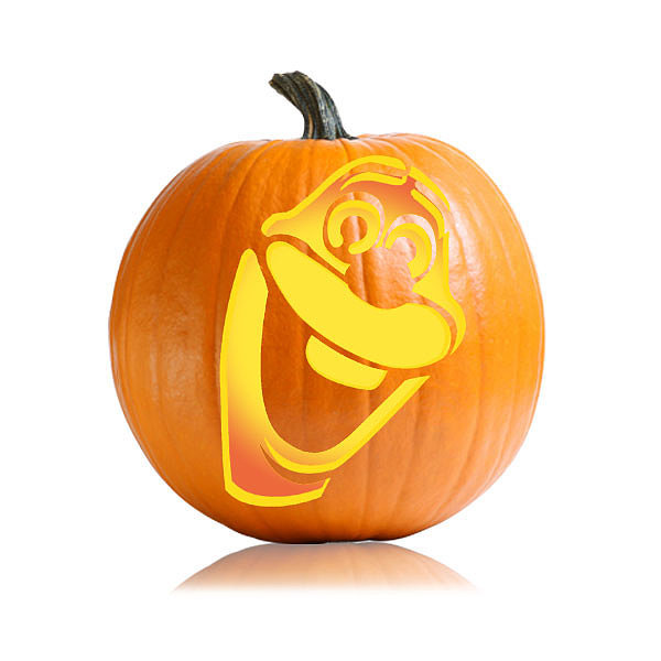 Cartoon character pumpkin carving ideas for kids for Big pumpkin carving patterns