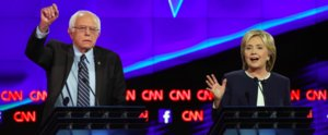 Watch Hillary Clinton and Bernie Sanders Clash Over Gun Control