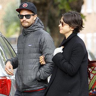 Jamie Dornan With His Wife in London October 2015