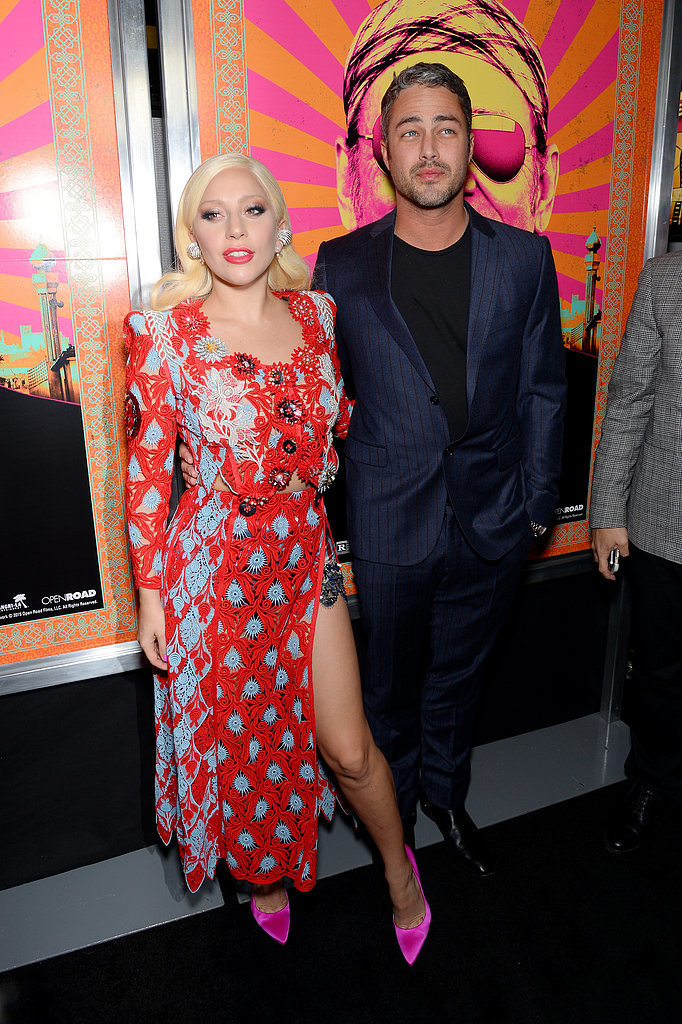 Lady Gaga and Taylor Kinney Show Sweet PDA at a Red Carpet Premiere