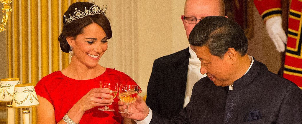 Kate Middleton Stuns at Her First State Banquet at Buckingham Palace