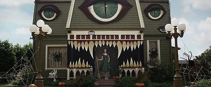 You'll Be Blown Away by What This Artist Did to Her Parents' House For Halloween
