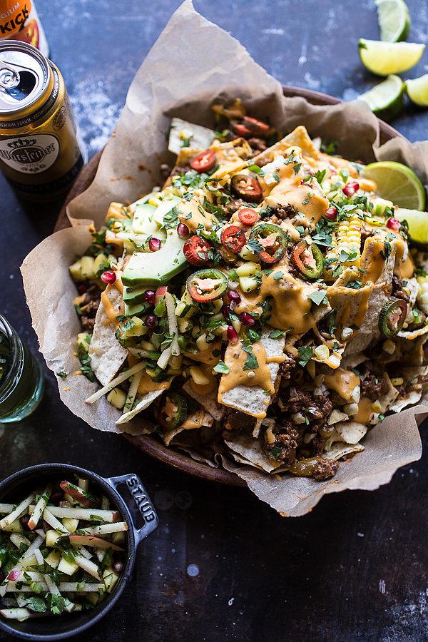 Beef Enchilada Nachos