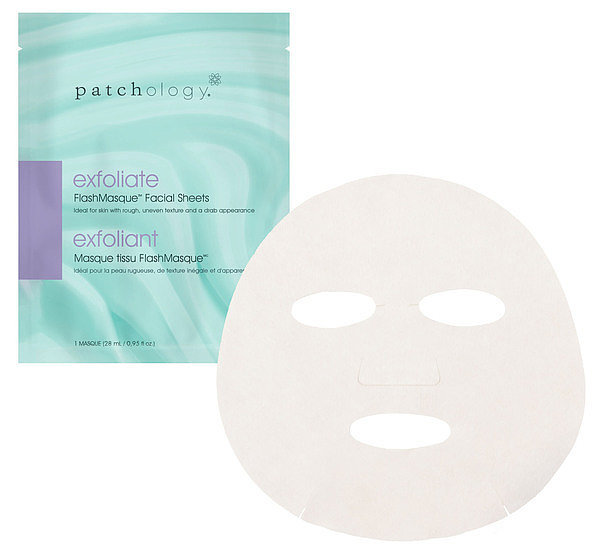 Best for: Brightening a dull, screen-ravaged complexion.  Most sheet masks take up to 30 minutes to work their magic, but you only have to wear Patchology's Exfoliate FlashMasque ($50 for eight masks) for five minutes to see luminous, resurfaced skin. Papain and lactic acid dissolve and shed dead cells to reveal your fresh face hiding underneath.