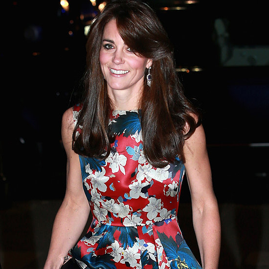 Kate Middleton Wearing Floral-Print Erdem Dress