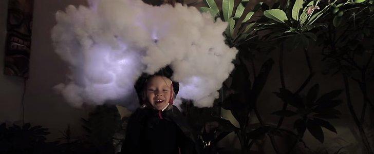 This Little Girl's El Niño Costume Makes It Rain . . . Literally