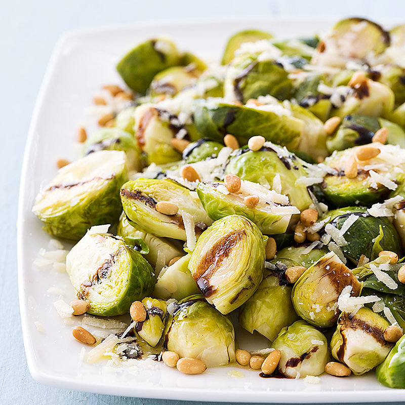 Slow-Cooker Balsamic Brussels Sprouts With Pine Nuts