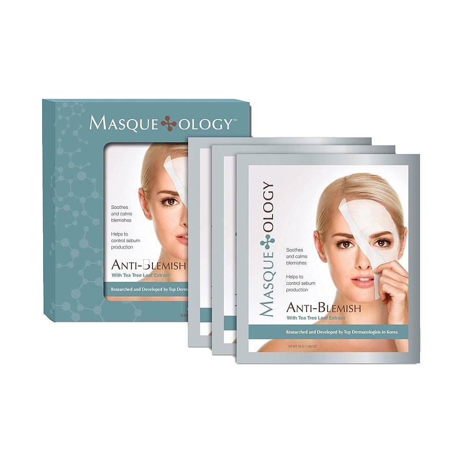 Best for: the person prone to hormonal breakouts.  The key ingredient in Masqueology Anti-Blemish Masque With Tea Tree Leaf Extract ($24 for three masks) has powerful medicinal properties that kill bacteria and calm complexion flareups. Slick one of these treatments on to soothe redness and painful bumps.