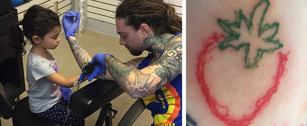 This 4-Year-Old Tattooing Her Dad Is Either the Coolest or Craziest Thing You've Ever Seen