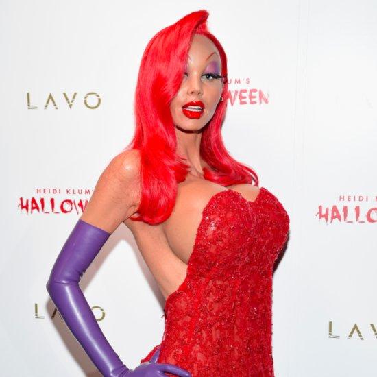 Heidi Klum 2015 Halloween Costume as Jessica Rabbit