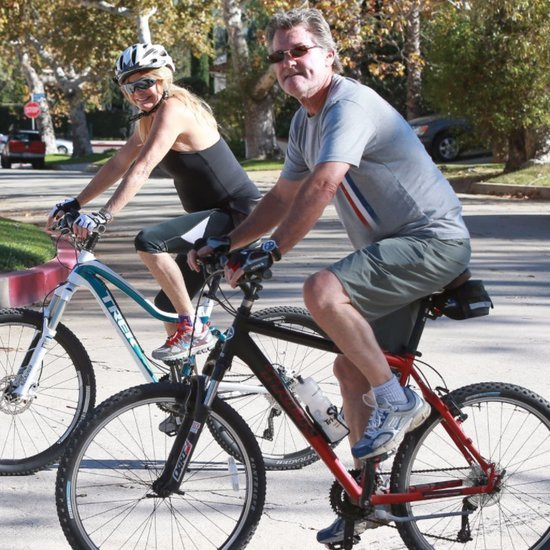 Goldie Hawn and Kurt Russell Ride Bikes in LA | Pictures