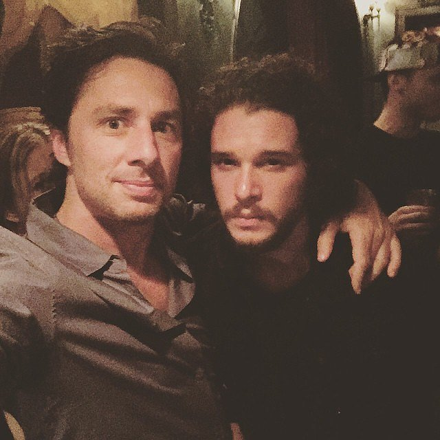 """""""Winter came,"""" Zach Braff wrote alongside this 2015 selfie with Kit Harington."""