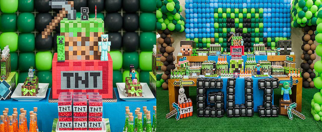 Creeper-Obsessed Kiddos Will Love This Minecraft Inspired Birthday Bash