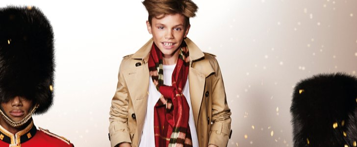 Romeo Beckham Personifies Festive Cheer in Burberry's New Campaign