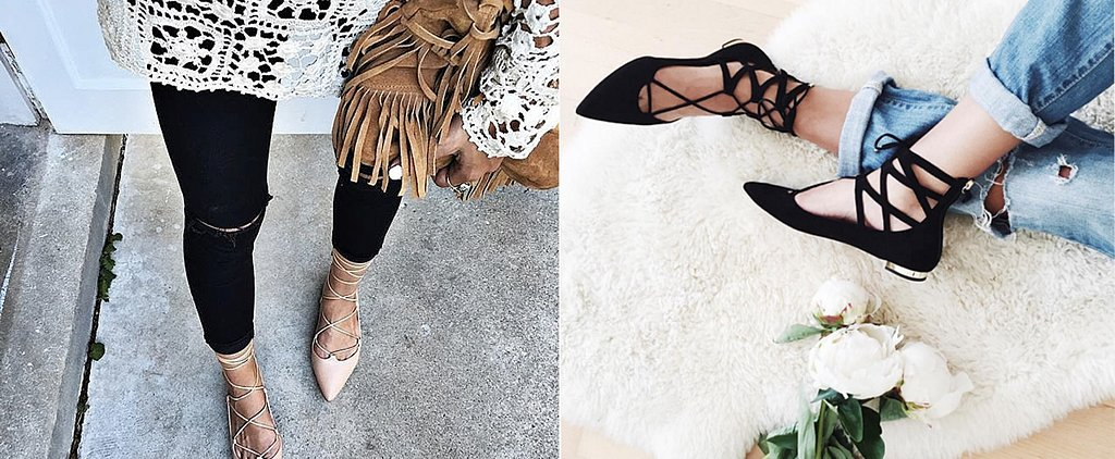 6 Fresh Ways to Style Lace-Up Flats For Fall