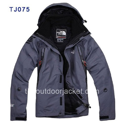 Cheap Light Grey The North Face Double-deck Windwear Jackets for Men