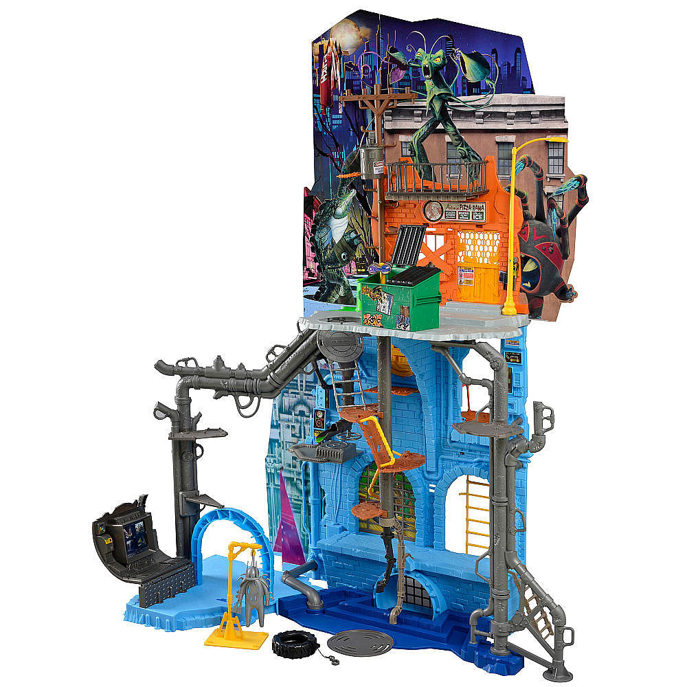 For 4-Year-Olds: Teenage Mutant Ninja Turtles 42 Inch Tall Secret Sewer Lair Playset with Sound