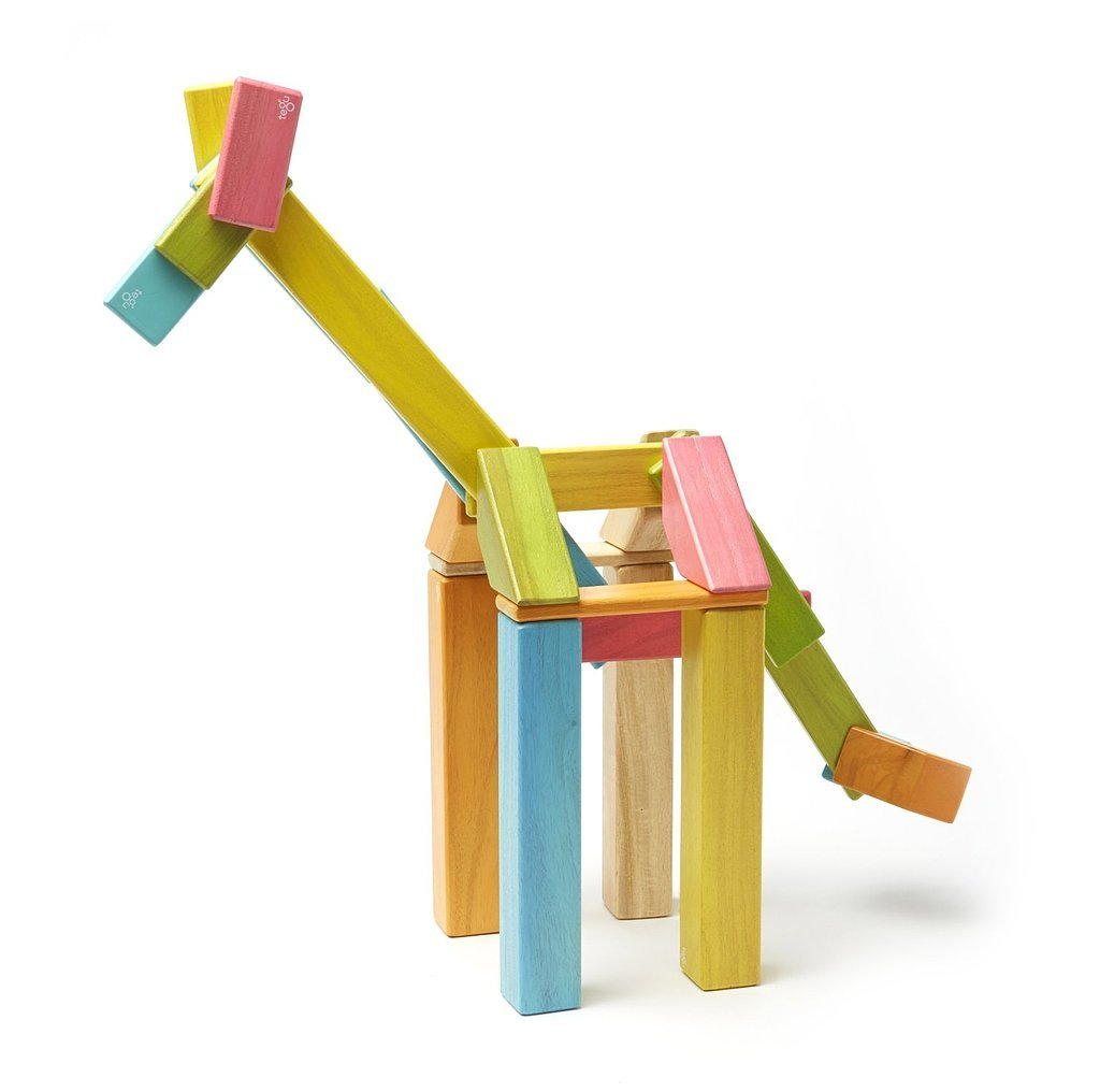 For 4-Year-Olds: 42-Piece Tegu Magnetic Wooden Block Set