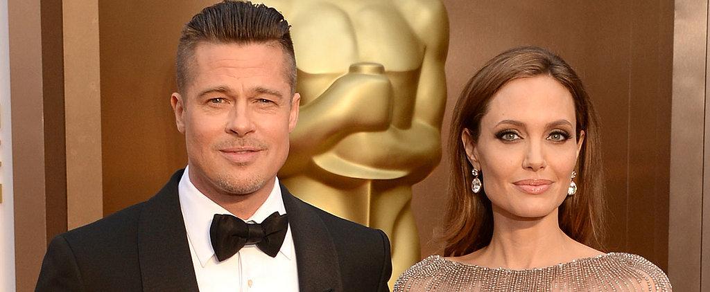Yep, Angelina Jolie Married Brad Pitt While Sitting Down