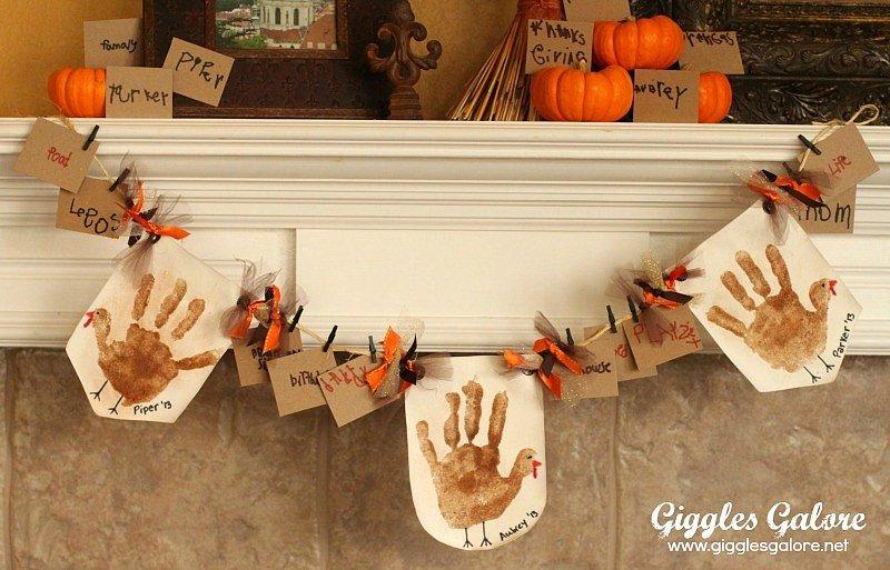 Handprint Turkey Banner
