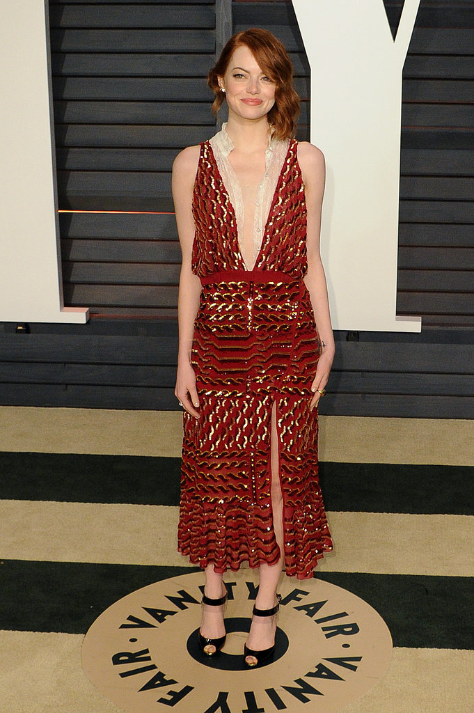 Emma slipped into a sexy Altuzarra creation for the 2015 Vanity Fair Oscar party.