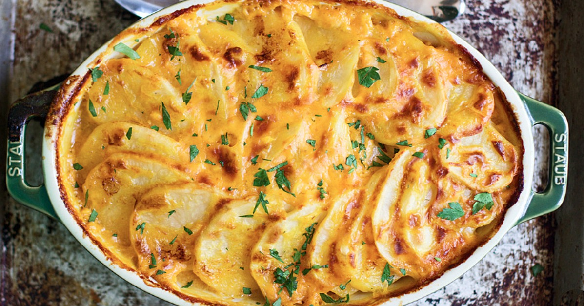 Pumpkin And Cheddar Scalloped Potatoes | POPSUGAR Food