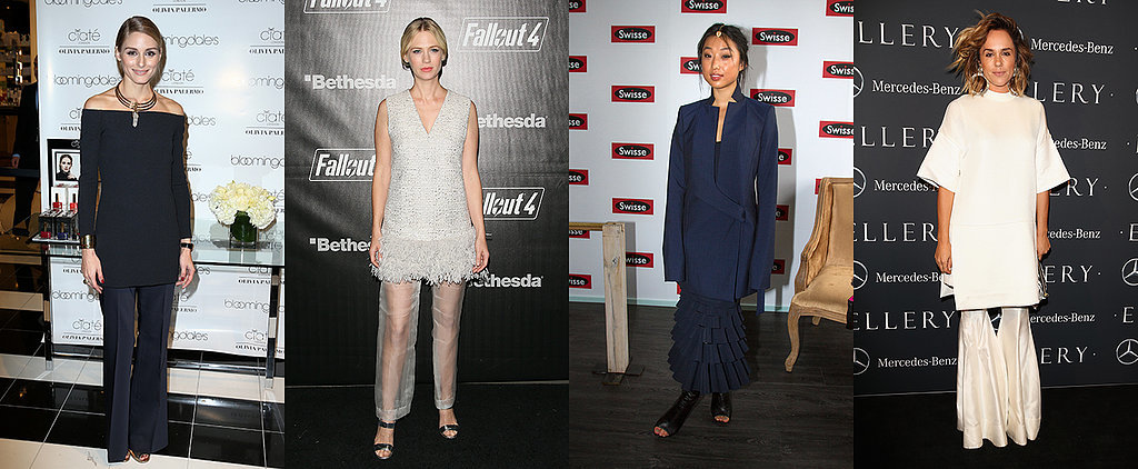 8 Celebrities That Prove the Dress Over Pants Trend Is a Must-Try