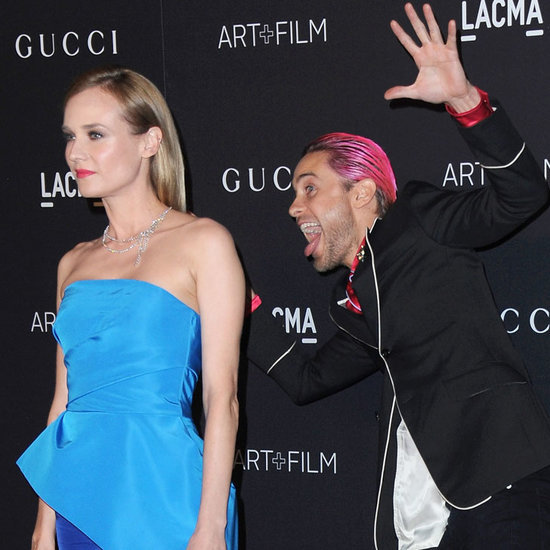 Jared Leto Photobombs Diane Kruger on the Red Carpet