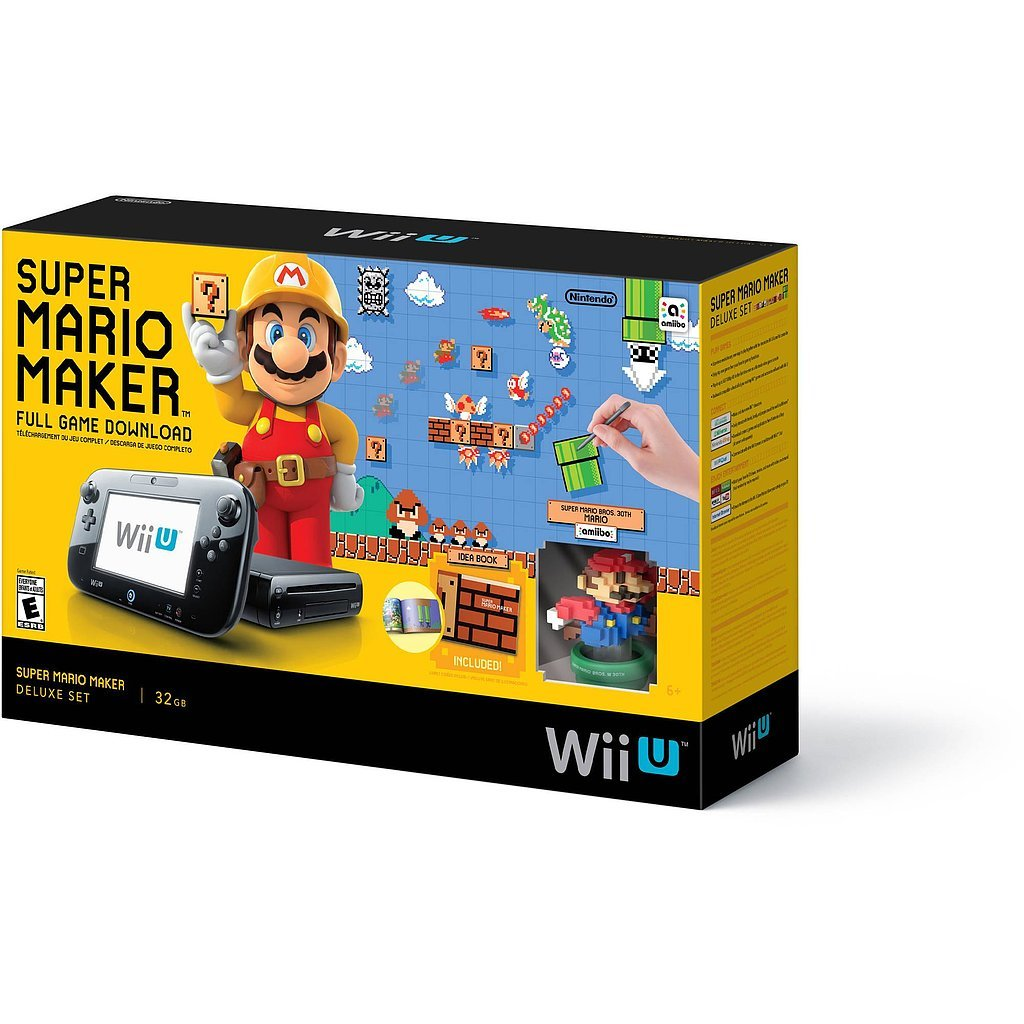 For 8-Year-Olds: Wii U Super Mario Maker Console Deluxe Set