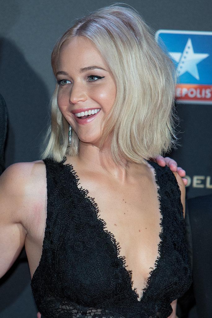 Jennifer Lawrence White Blonde Hair Nov 2015 Popsugar