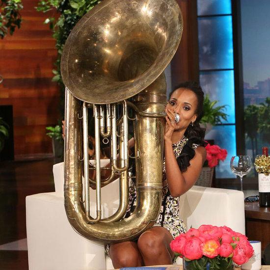 Kerry Washington Plays Tuba For Ellen DeGeneres