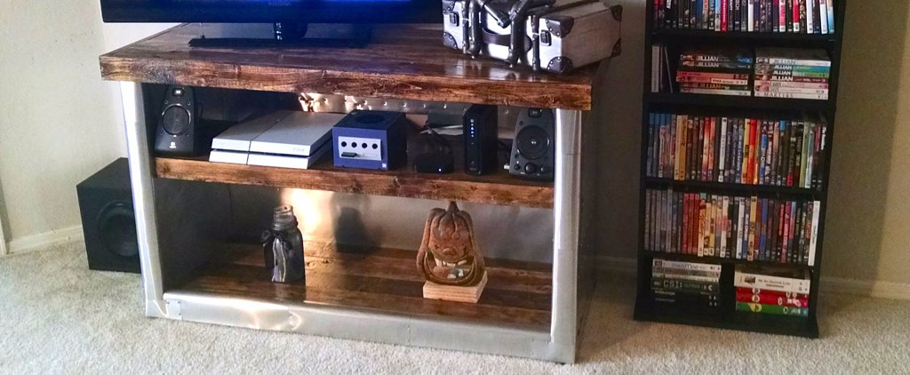 How This Guy DIYed His Own Restoration Hardware TV Stand For Almost Nothing