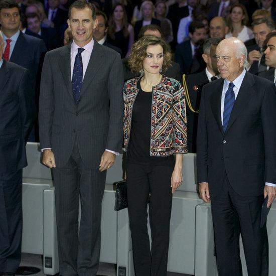 Queen Letizia of Spain Wears Statement Jacket November 2015