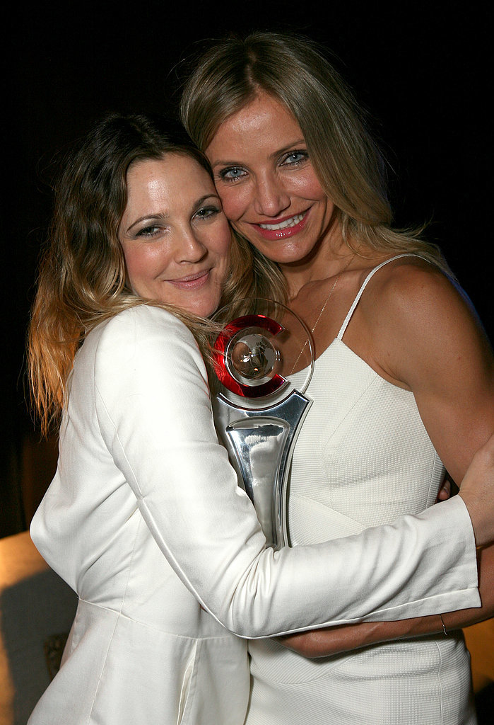 . . . Cameron Diaz! Drew gave Cameron, whom she met at age 16, the title of godmother to her baby girl, Frankie, after her birth in April 2014. Drew revealed the news in her book, Wildflower.