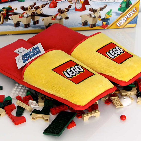 Slippers Designed to Protect Bare Feet From Lego Bricks