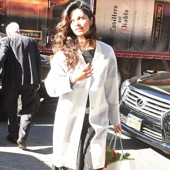 Camila Alves Wears White Wool Coat in NYC