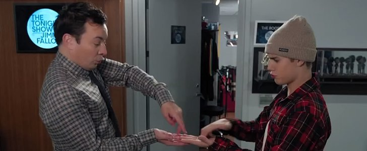 "Justin Bieber and Jimmy Fallon's ""Secret Handshake"" Is Funny as Hell"
