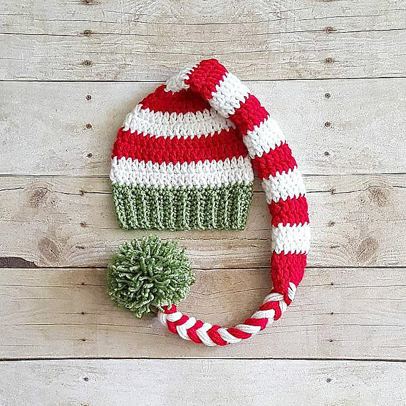 Crochet Baby Christmas Hat