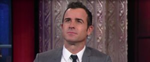 Justin Theroux Gets Challenged to an Eyebrow-Acting Contest — and Totally Wins