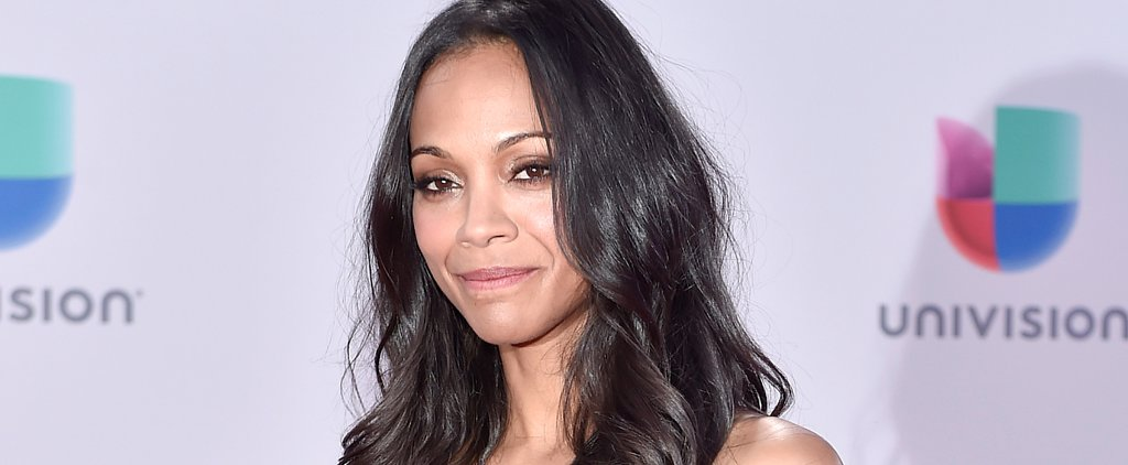 Zoe Saldana Did Her Own Hair For the Latin Grammys — Copy It Now!