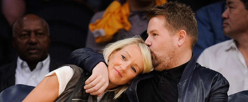 James Corden Cuddling With His Wife at the Lakers Game Will Make You Feel All Warm Inside