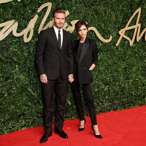 David and Victoria Beckham at the British Fashion Awards