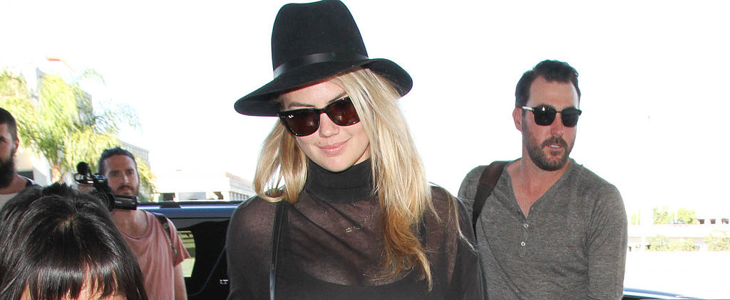 Make Way For Kate Upton's Basic but Brilliant Thanksgiving Travel Outfit