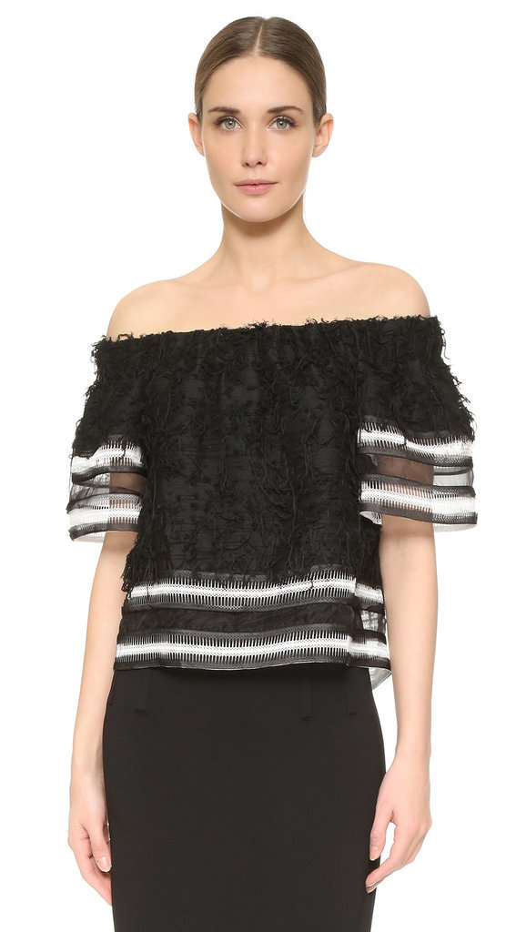 Johnathan Simkhai Strapless Fringe Top ($495)