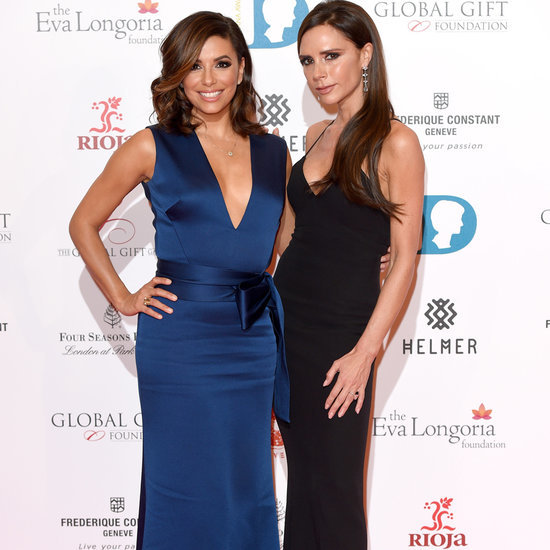 Eva Longoria and Victoria Beckham Get Ready For a Night Out