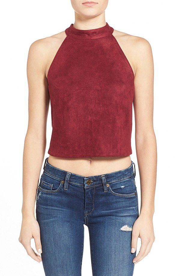 J.O.A Faux Suede Top ($54)