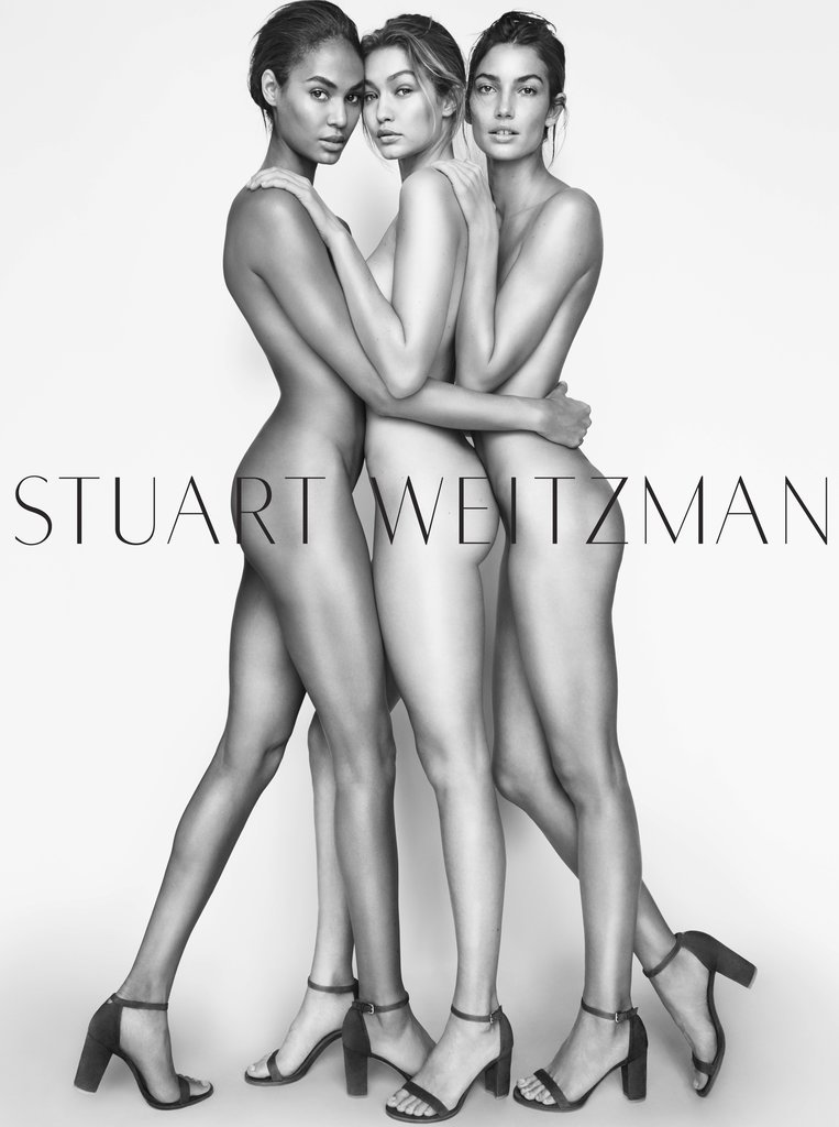 gigi hadid naked in stuart weitzman campaign popsugar fashion